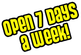 We are open 7 days a week including public holidays